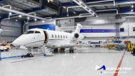 Bombardier Challenger 350 wnętrze zabezpieczone folią ochronną Magnus Pro®
