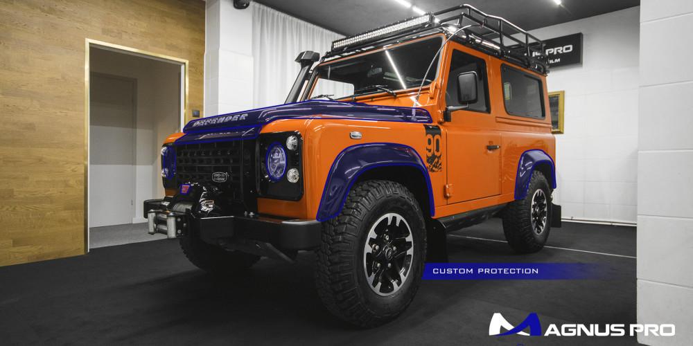 Land Rover Defender 90 Adventure zabezpieczony folią ochronną Magnus Pro®️