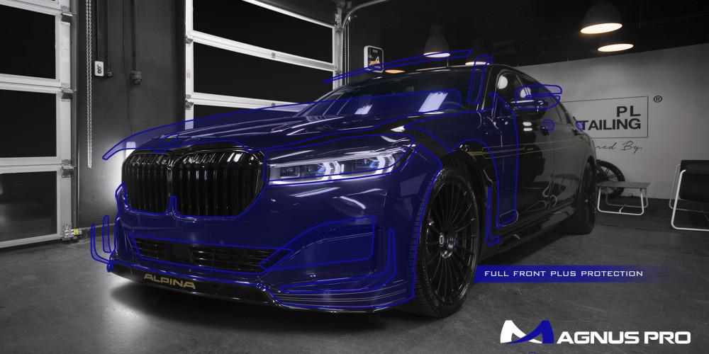 BMW Alpina B7 zabezpieczona folią ochronną Magnus Pro®