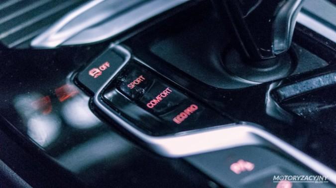 Test BMW X3 30i - tryby jazdy