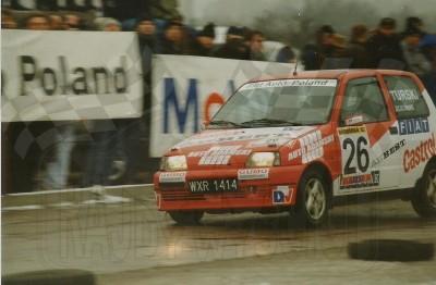 5. Marcin Turski i Jacek Sicinski - Fiat Cinquecento Sporting.   (To zdjęcie w pełnej rozdzielczości możesz kupić na www.kwa-kwa.pl )
