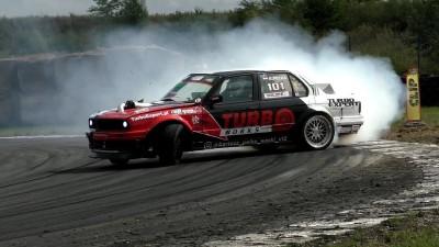 "Drift BMW E30 V12 5.4 700HP 1000Nm Turbo Bartosz Pełka ""Wąski"" DMP PFD"