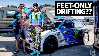 Drifting with No Arms?! Ken Block Rides Along With Armless Driver Bartosz Ostałowski
