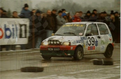 2. Włodzimierz Pawluczuk i Marek Bała - Fiat Cinquecento Abarth.   (To zdjęcie w pełnej rozdzielczości możesz kupić na www.kwa-kwa.pl )