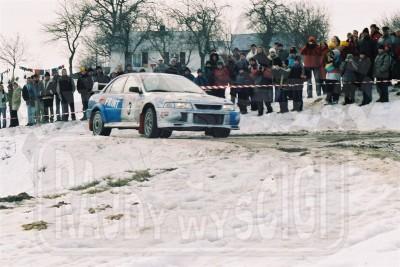 92. Piotr Maciejewski i Piotr Kowalski - Mitsubishi Lancer Evo VI  (To zdjęcie w pełnej rozdzielczości możesz kupić na www.kwa-kwa.pl )