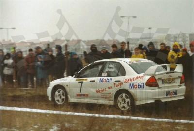 23. Zbigniew Stec i Robert Bromke - Mitsubishi Lancer Evo IV.   (To zdjęcie w pełnej rozdzielczości możesz kupić na www.kwa-kwa.pl )