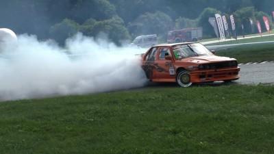 Drift BMW E30 LSX 600HP 800Nm Gieras Łukasz Ultime Drift Open 47 runda - Tor Kielce