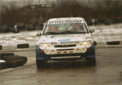18. Bohdan Ludwiczak i Tomasz Cichocki - Ford Escort Cosworth RS.    (To zdjęcie w pełnej rozdzielczości możesz kupić na www.kwa-kwa.pl )