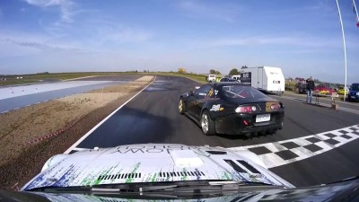 Tor Łódź drift BMW GTR 700KM vs Toyota Supra 600KM Goździewicz vs Jarkiewicz