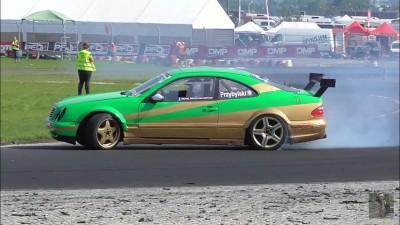 Mercedes CLK W208 5.0 AMG 540KM 737Nm Przybylski Driftingowe Mistrzostwa Polski DMP Słomczyn r5