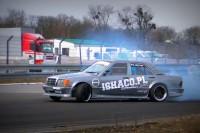 Mercedes 190 v8 5.5 550KM/730nm AMG kleemann kompr.Kajetan Rutyna Drift Motopark Toruń 2k17